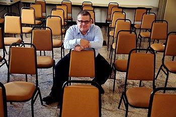 Silvio Alexandre: organizador do maior evento de literatura fantástica do País. Foto Olga Leiria